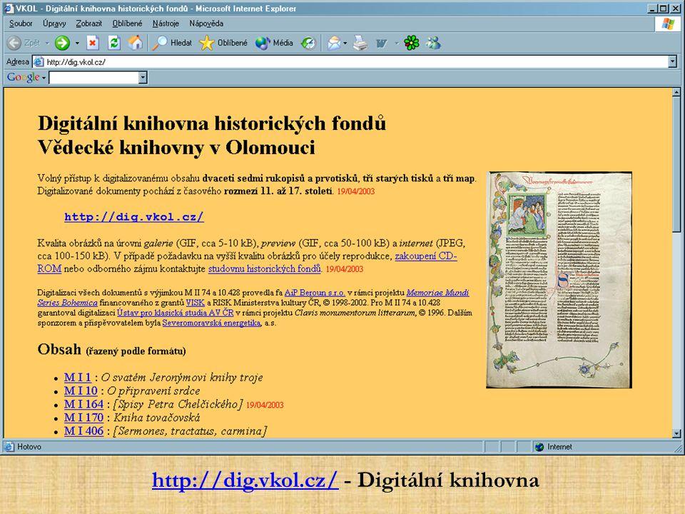 http://dig.vkol.cz/http://dig.vkol.cz/ - Digitální knihovna