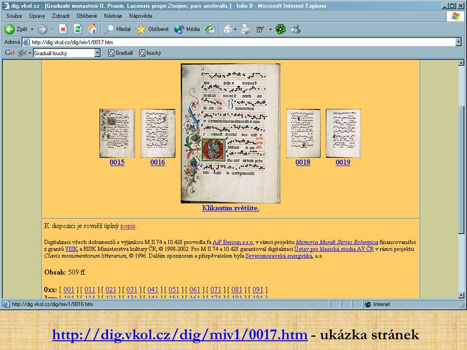 http://dig.vkol.cz/dig/miv1/0017.htmhttp://dig.vkol.cz/dig/miv1/0017.htm - ukázka stránek