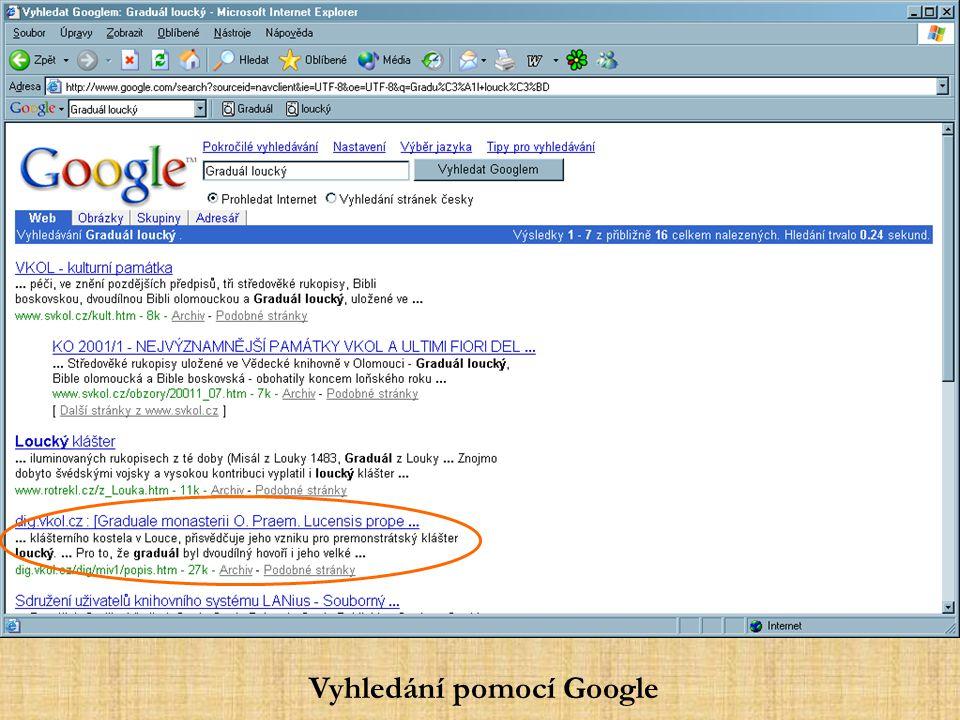 http://kat.vkol.cz/http://kat.vkol.cz/ - CD-ROM rukopisu v katalogu
