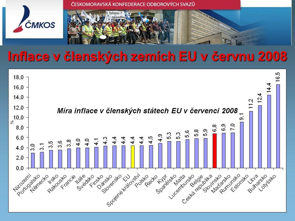 Inflace v členských zemích EU v červnu 2008 Míra inflace v členských státech EU v červenci 2008