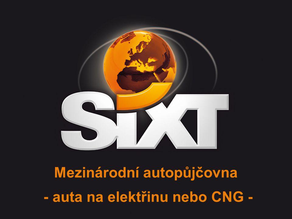 SIXT Green Rent 2010 - page 2 Projekt Sixt Green Rent www.sixt-autopujcovna.cz www.sixti.cz elektřina zemní plyn / CNG