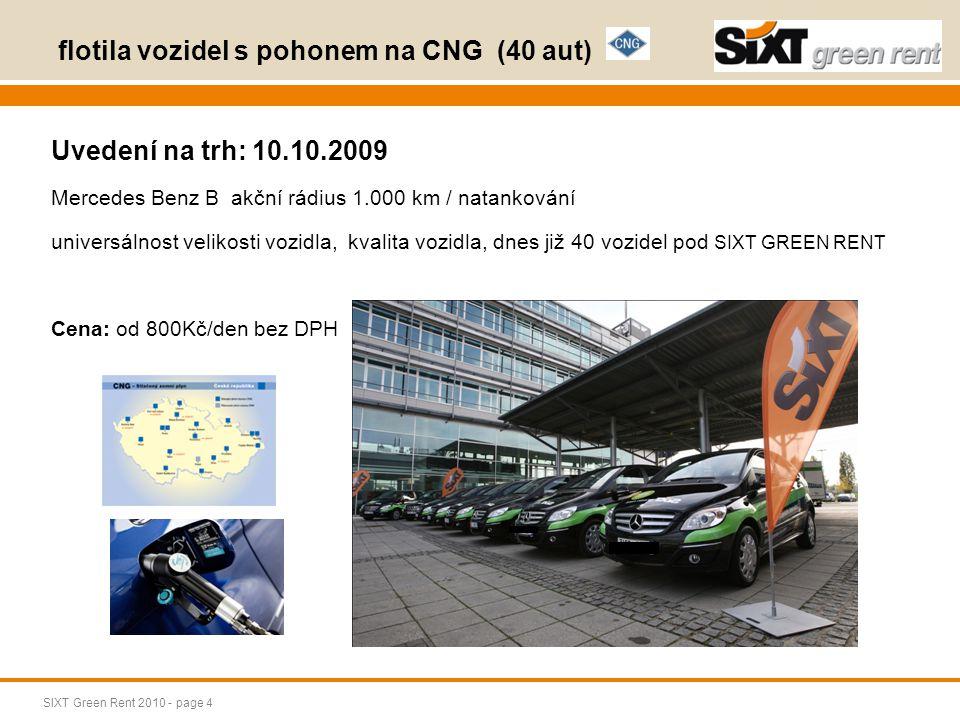SIXT Green Rent 2010 - page 5 Rezervace aut s alternativním pohonem INTERNET - výhody online rezervace, akční ceny www.sixti.cz www.sixt-autopujcovna.cz www.sixt.cz TELEFON – osobní komunikace, vysvětlení produktu +420 22 23 24 995 EMAIL reservation@sixt.cz