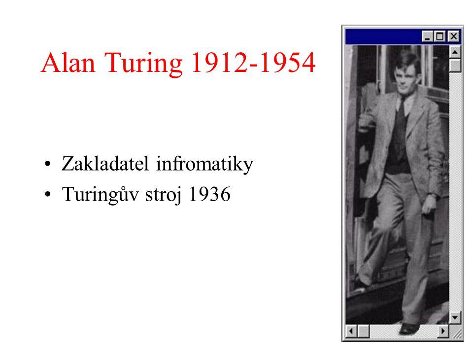 Alan Turing 1912-1954 Zakladatel infromatiky Turingův stroj 1936