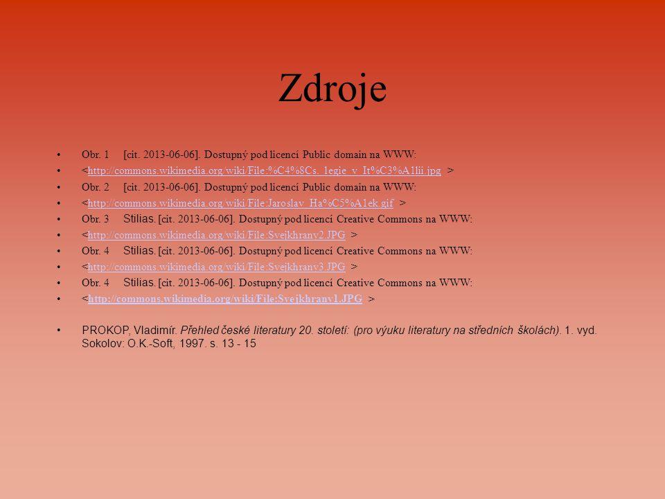 Zdroje Obr. 1[cit. 2013-06-06]. Dostupný pod licencí Public domain na WWW: http://commons.wikimedia.org/wiki/File:%C4%8Cs._legie_v_It%C3%A1lii.jpg Obr