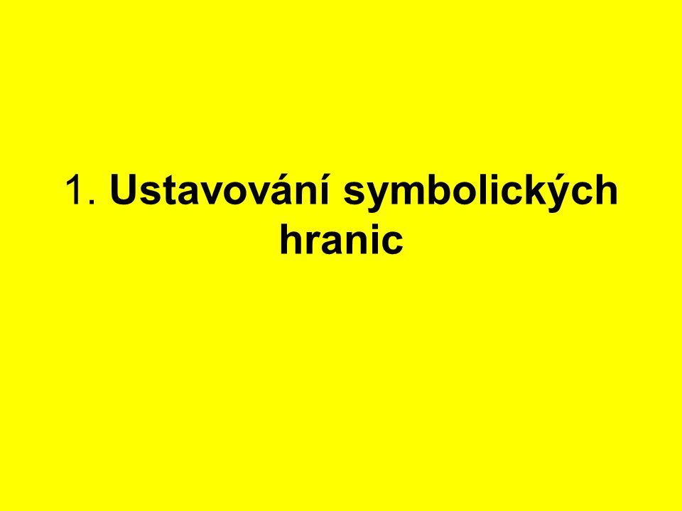 1. Ustavování symbolických hranic