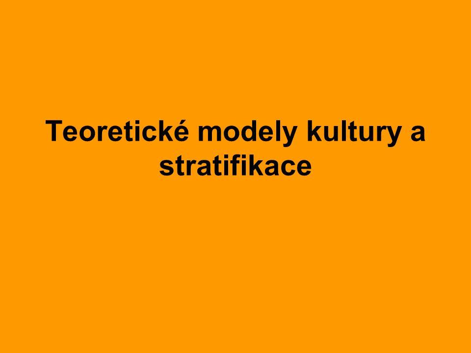 Teoretické modely kultury a stratifikace