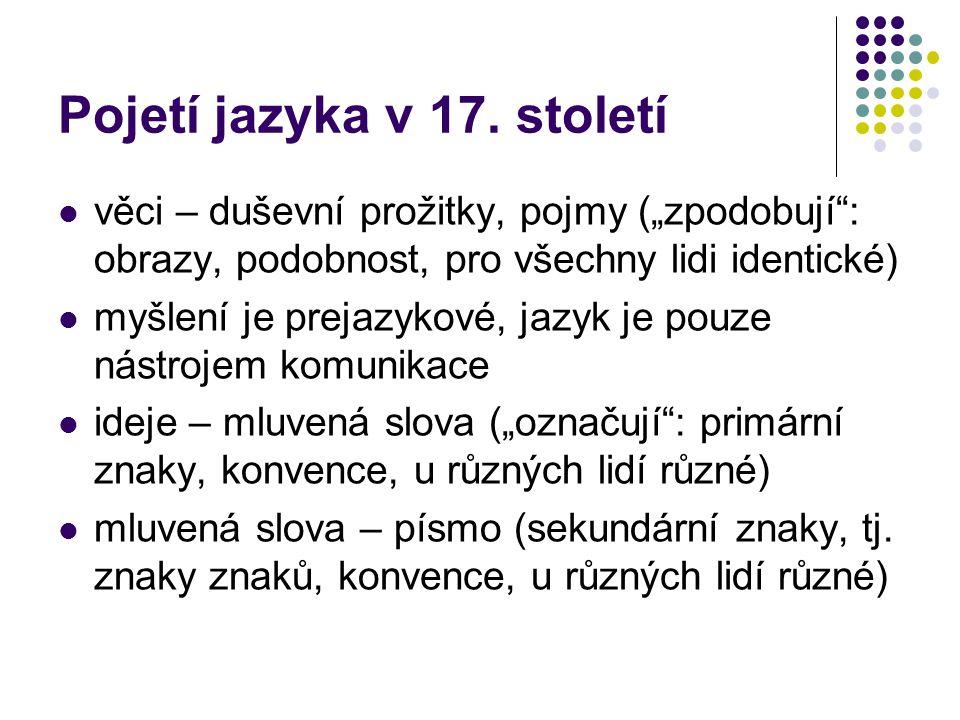 Pojetí jazyka v 17.