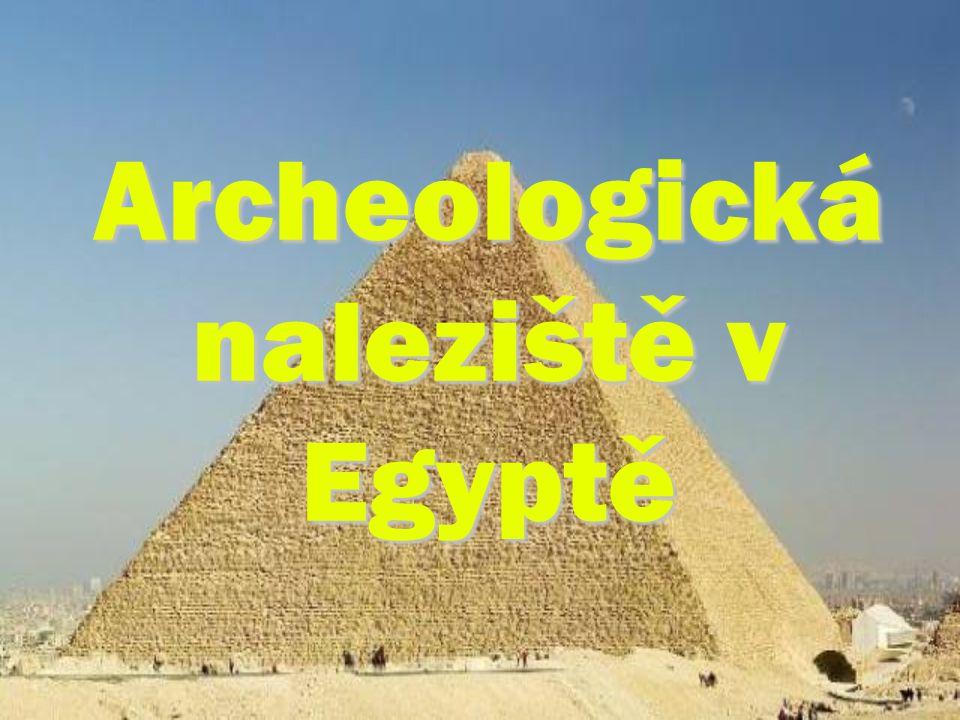Archeologická naleziště v Egyptě