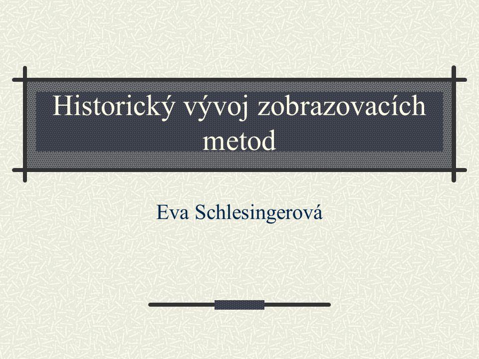 Historický vývoj zobrazovacích metod Eva Schlesingerová