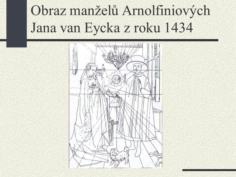 Obraz manželů Arnolfiniových Jana van Eycka z roku 1434