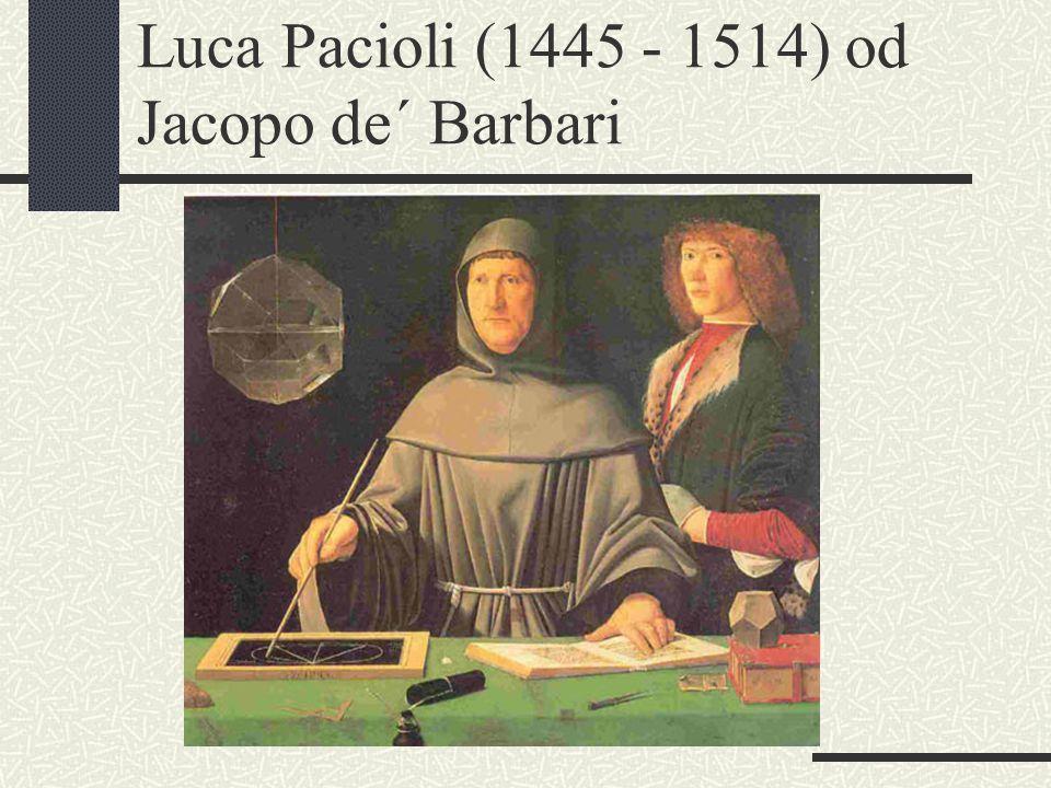 Luca Pacioli (1445 - 1514) od Jacopo de´ Barbari