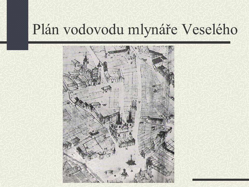 Plán vodovodu mlynáře Veselého