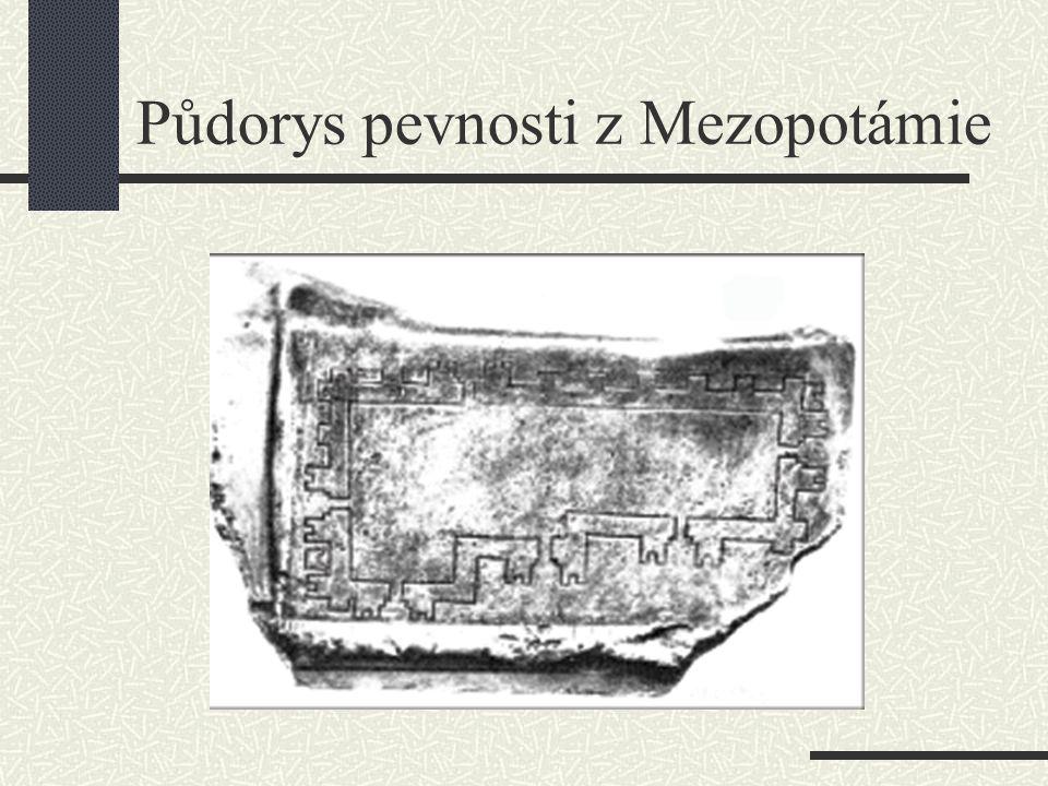 Půdorys pevnosti z Mezopotámie
