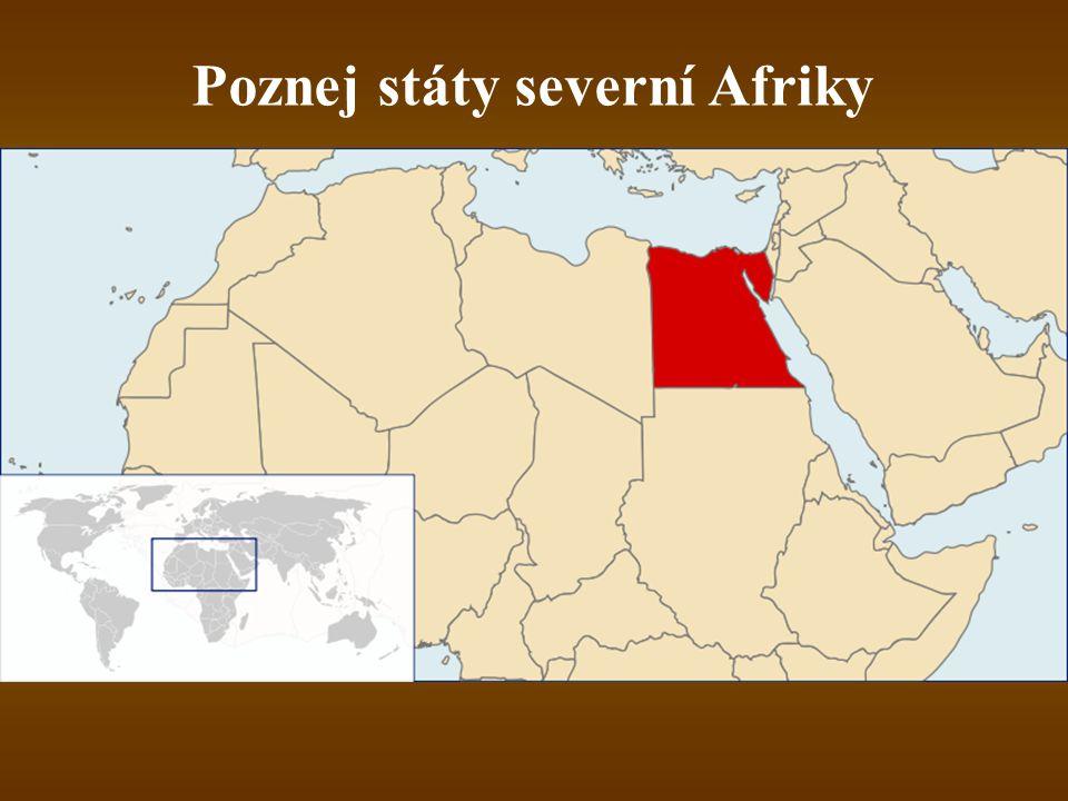 Poznej státy severní Afriky