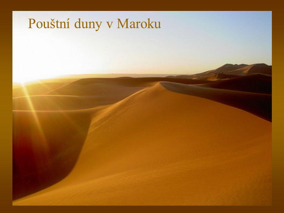 Pouštní duny v Maroku