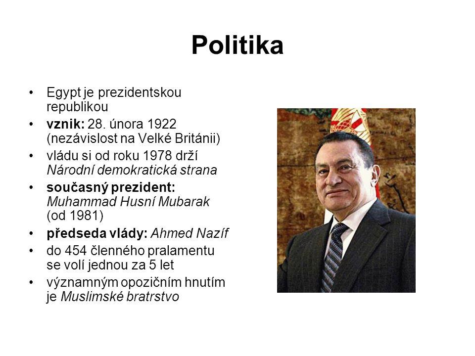Politika Egypt je prezidentskou republikou vznik: 28.