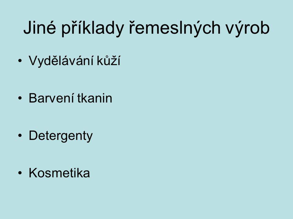 Barviva třísloviny (sumach, kassiová kůra, duběnky) + Fe 2+ černé indigo modré červené antický (tyrský) purpur (z mořského plže ostranky, Murex brandaris) (6,6´-dibromindigo) purpurové mořena barvířská (Rubena tinctoria, alizarin), kermes (košenila, karmín - z červce nopálového) Mořidla říční bahno (Al, Fe) kamenec třísloviny soli Fe Barvení tkanin