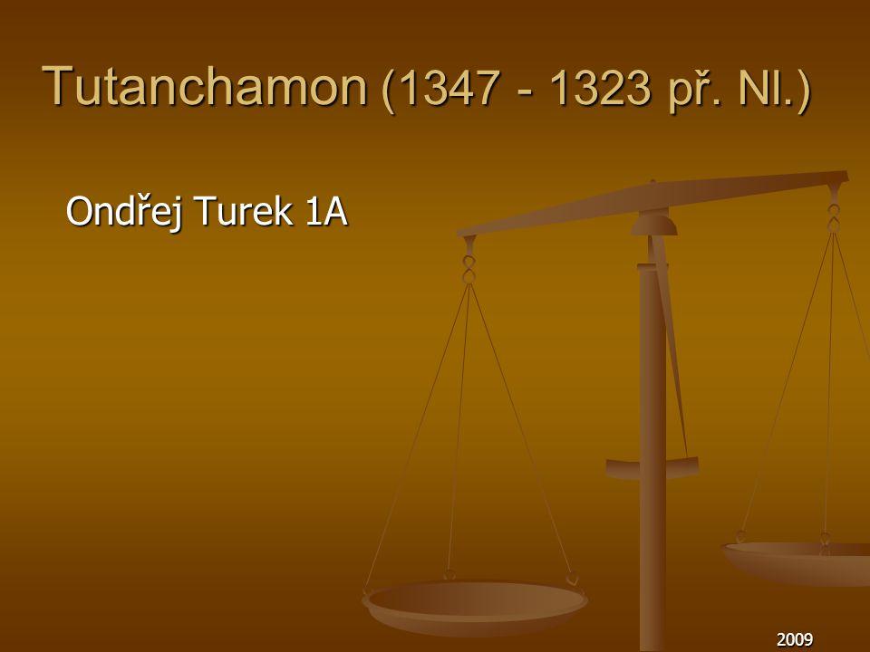 Tutanchamon (1347 - 1323 př. Nl.) Ondřej Turek 1A 2009