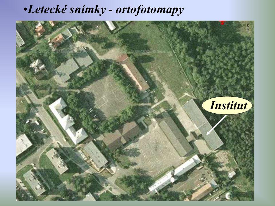 Letecké snímky - ortofotomapy Institut