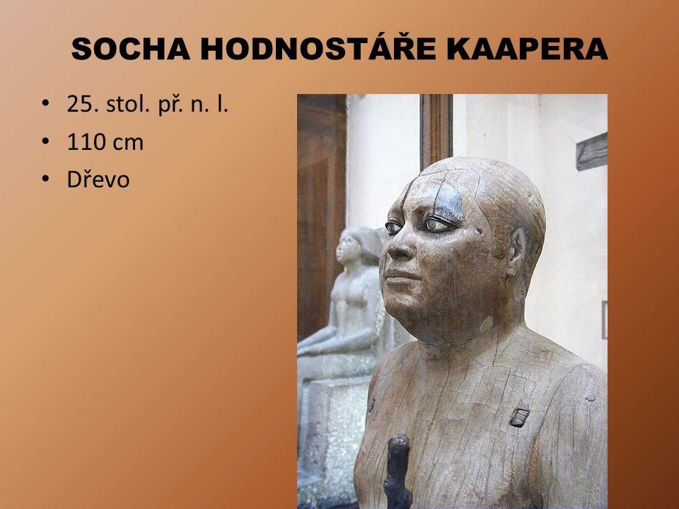 SOCHA HODNOSTÁŘE KAAPERA 25. stol. př. n. l. 110 cm Dřevo