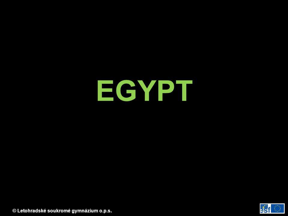 © Letohradské soukromé gymnázium o.p.s. EGYPT