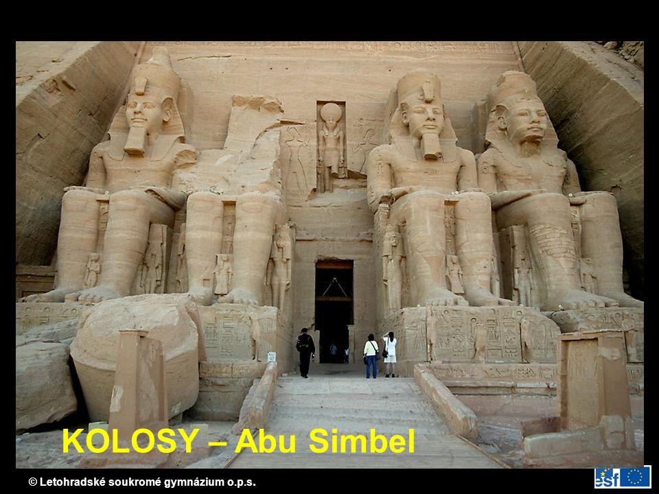 © Letohradské soukromé gymnázium o.p.s. KOLOSY – Abu Simbel