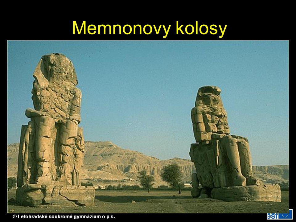 © Letohradské soukromé gymnázium o.p.s. Memnonovy kolosy