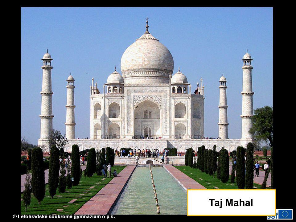 © Letohradské soukromé gymnázium o.p.s. Taj Mahal