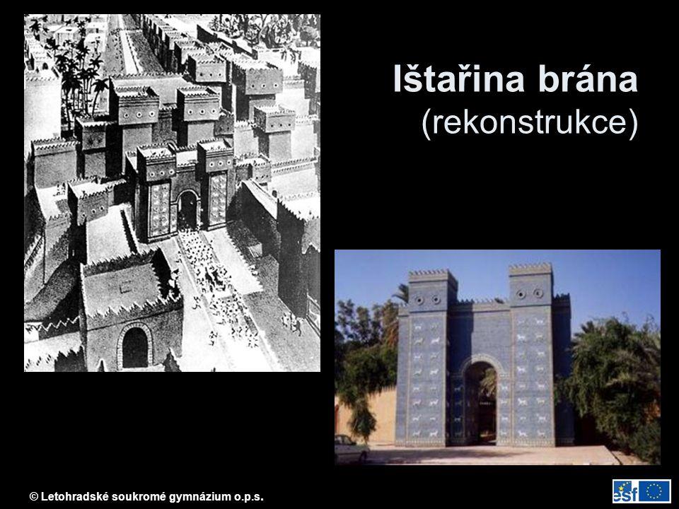 © Letohradské soukromé gymnázium o.p.s. Ištařina brána (rekonstrukce)