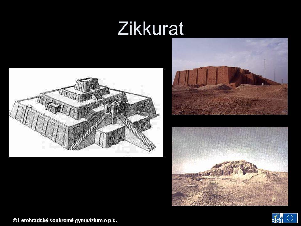 © Letohradské soukromé gymnázium o.p.s. Babylonský zikkurat
