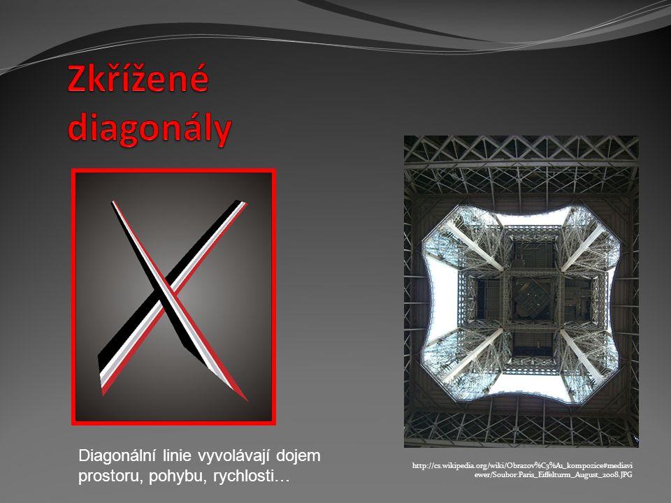 http://cs.wikipedia.org/wiki/Obrazov%C3%A1_kompozice#mediavi ewer/Soubor:Paris_Eiffelturm_August_2008.JPG Diagonální linie vyvolávají dojem prostoru,