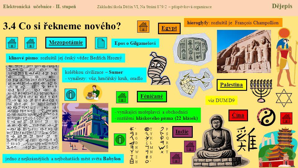 3.4 Co si řekneme nového.Elektronická učebnice - II.