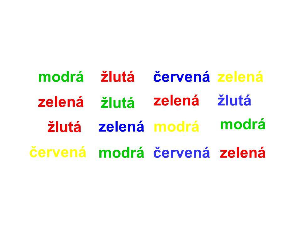 modrá zelená žlutá červená žlutá zelená modrá červená zelená modrá červená zelená žlutá modrá zelená
