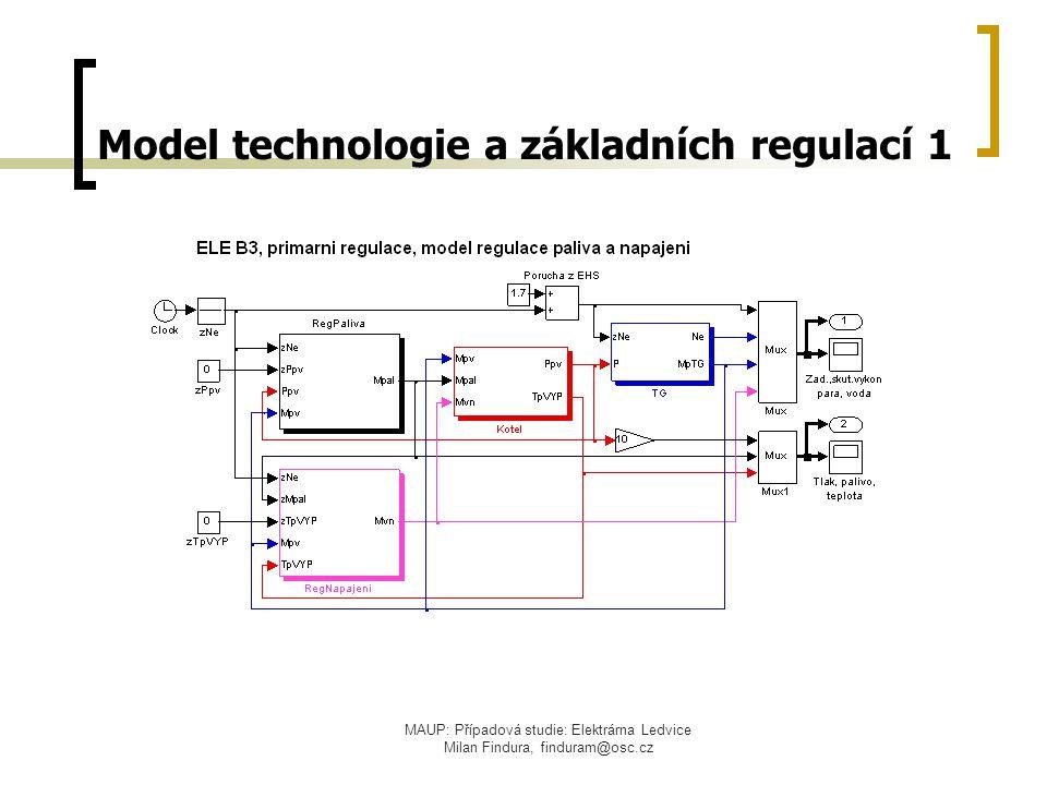 MAUP: Případová studie: Elektrárna Ledvice Milan Findura, finduram@osc.cz Model technologie a základních regulací 1