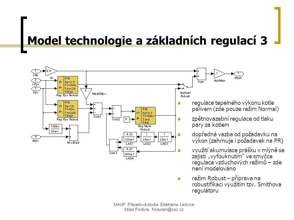 MAUP: Případová studie: Elektrárna Ledvice Milan Findura, finduram@osc.cz Model technologie a základních regulací 3 regulace tepelného výkonu kotle pa