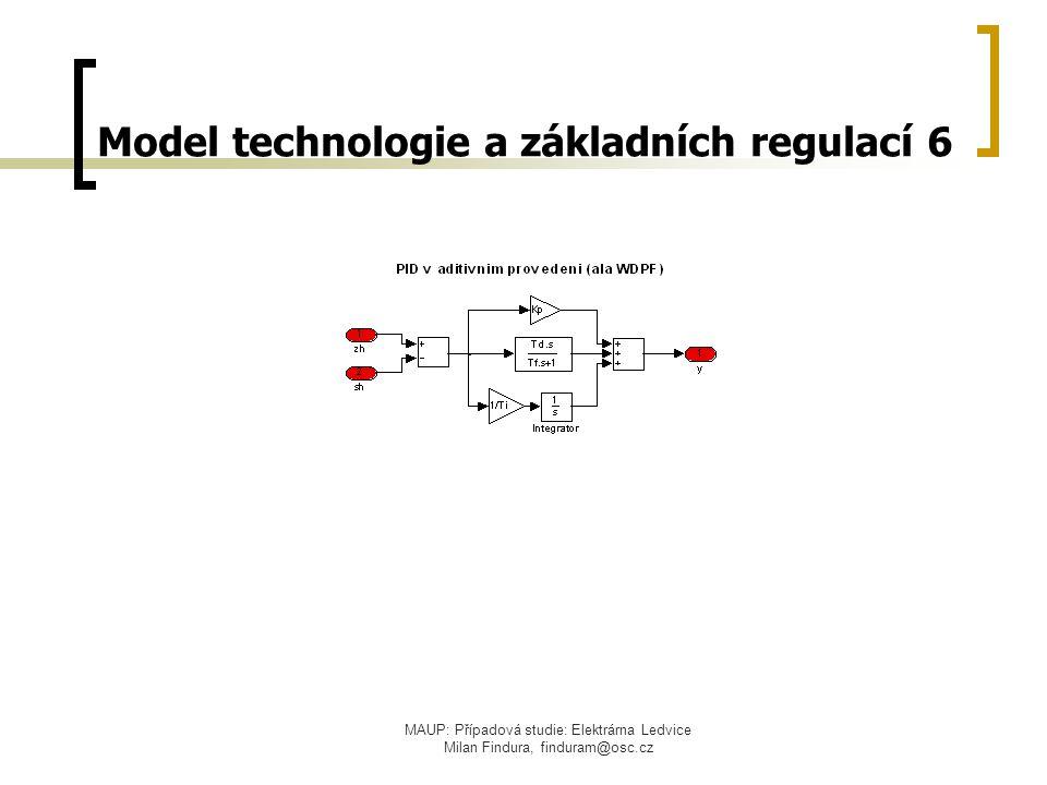 MAUP: Případová studie: Elektrárna Ledvice Milan Findura, finduram@osc.cz Model technologie a základních regulací 6