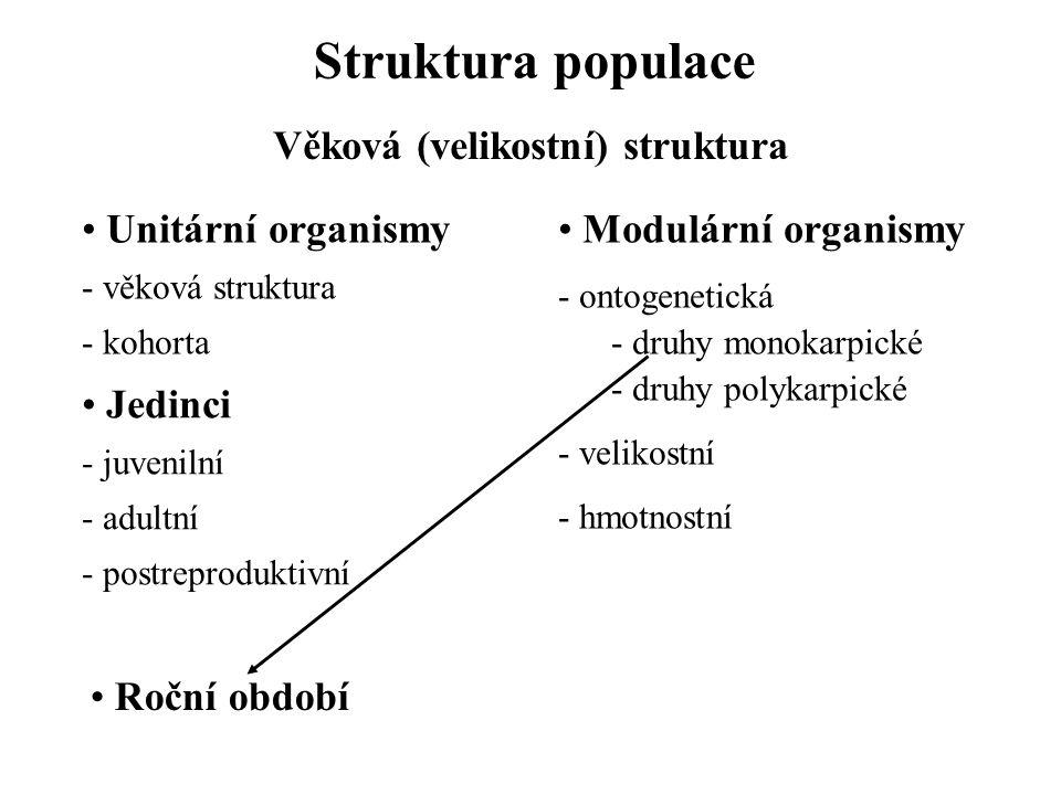 Struktura populace Sociální struktura Živočichové Society - rozmnožování - potrava - migrace - klidové stavy Society - anonymní - neanonymní - otevřené - uzavřené Kasty