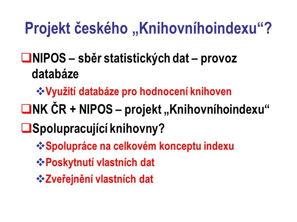 """Projekt českého """"Knihovníhoindexu ."""