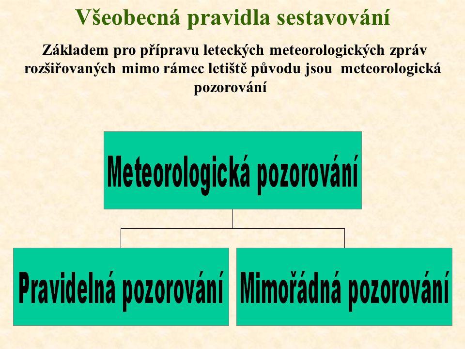 Pravidelná (zvláštní) letecká meteorologická zpráva METAR METAR (SPECI) Literatura: S-1705/2 Holub, J.: Meteorologické kódy 2. část (Letecké), UO, Brn