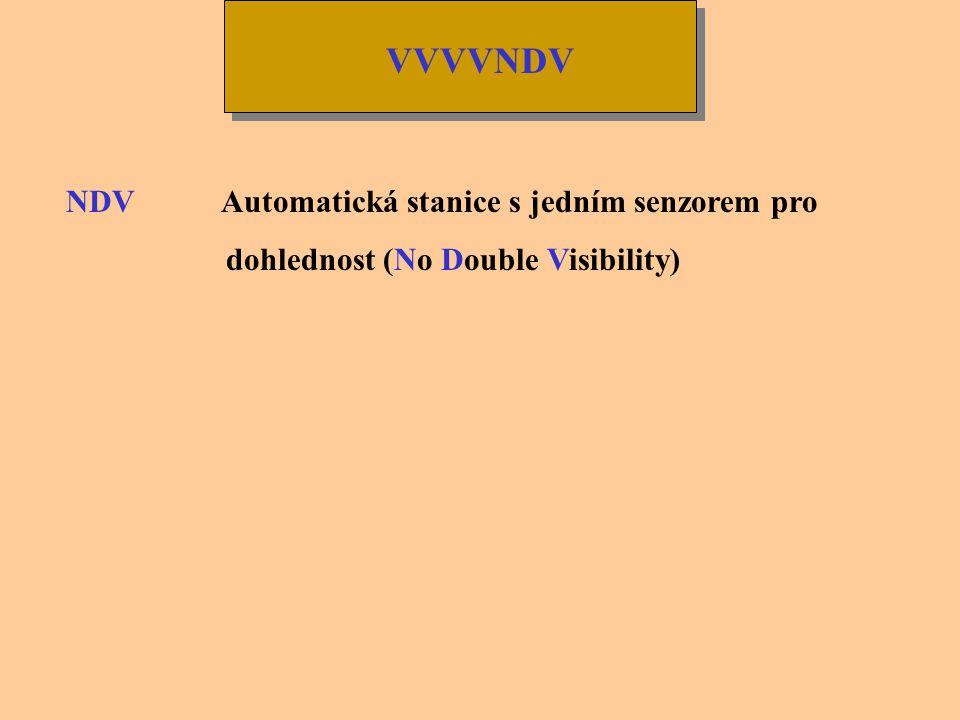 VVVV Dohlednost se hlásí v následujících krocích: -Od 0 m do 800 m zaokrouhlena dolů na nejbližších 50 m -Od 800 m do 5000 m zaokrouhlena dolů na nejb