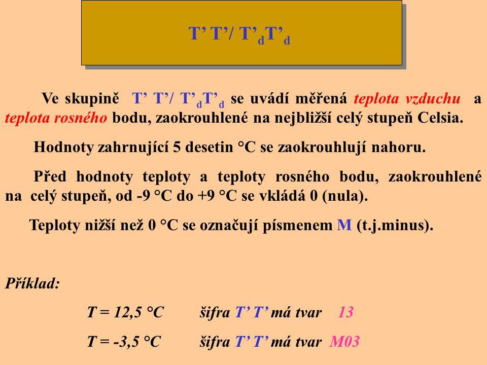 Zařazování kódového slova CAVOK Kódové slovo CAVOK nahrazuje informace o dohlednosti, dráhové dohlednosti, současném počasí a množství, druhu a výšce