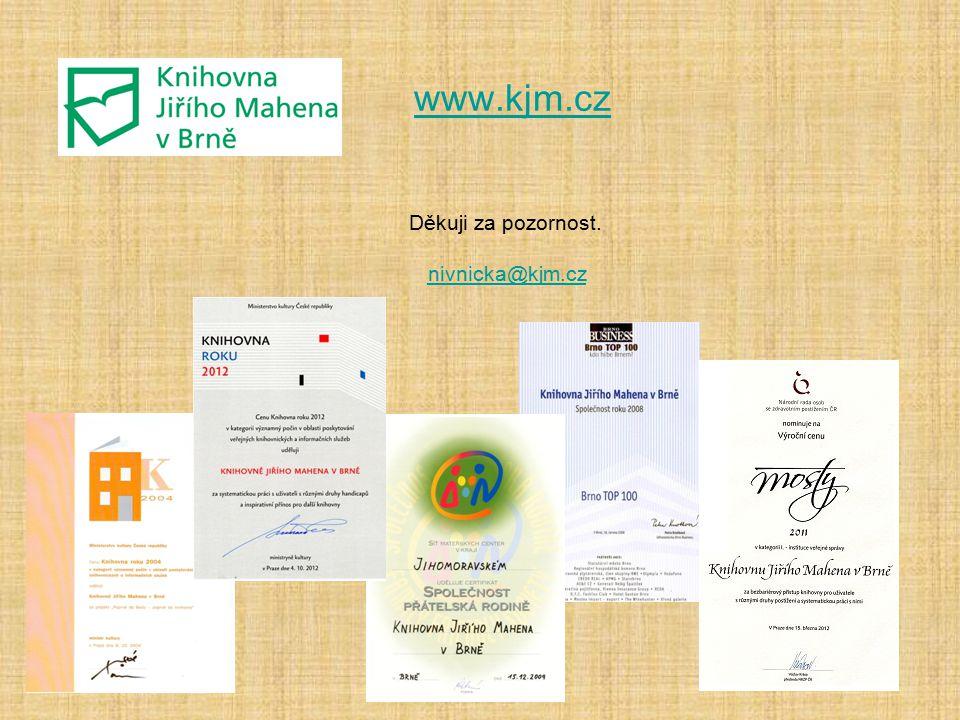www.kjm.cz Děkuji za pozornost. nivnicka@kjm.cz