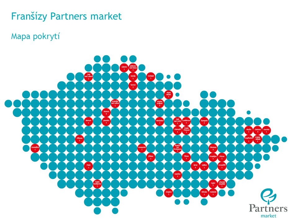 © Partners For Life Planning Franšízy Partners market Mapa pokrytí © Partners Financial Services, a.s.