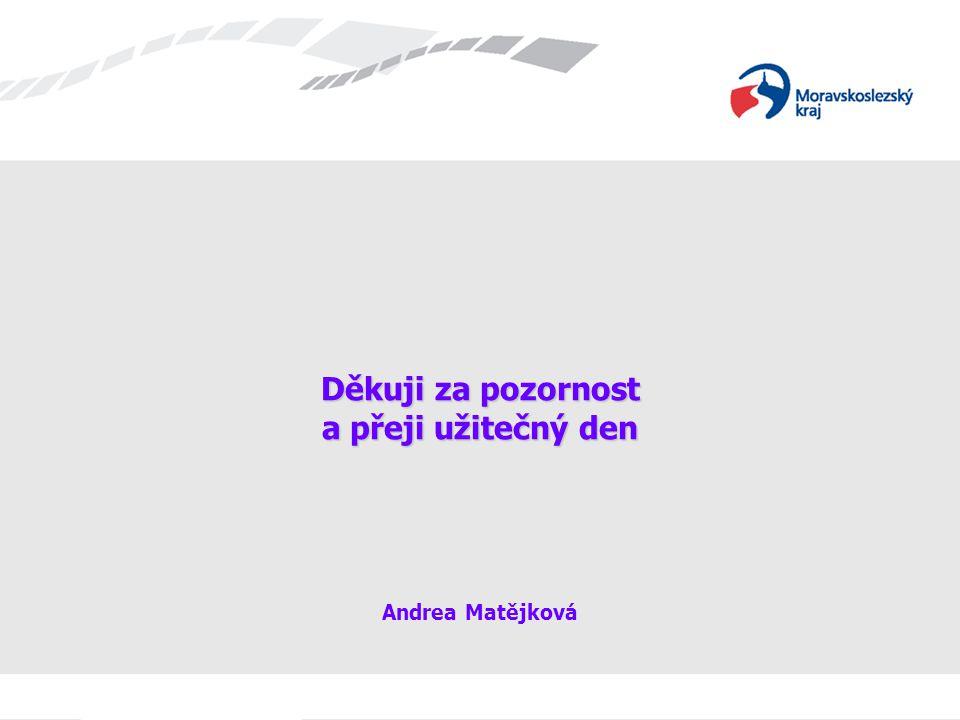 Děkuji za pozornost a přeji užitečný den Děkuji za pozornost a přeji užitečný den Andrea Matějková