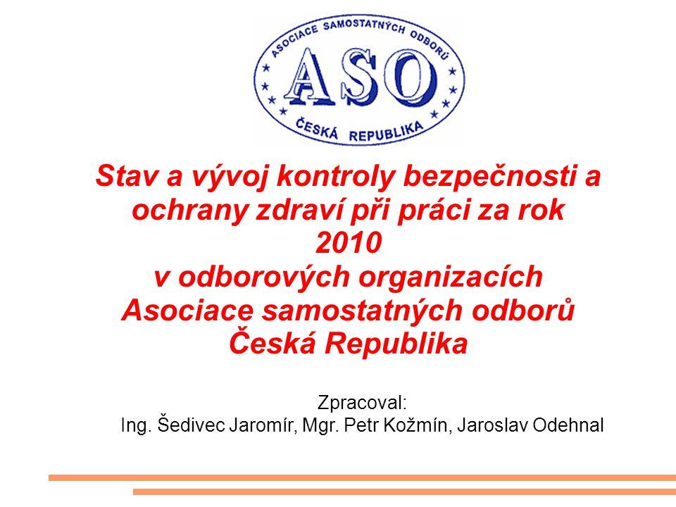 Stav a vývoj kontroly bezpečnosti a ochrany zdraví při práci za rok 2010 v odborových organizacích Asociace samostatných odborů Česká Republika Zpraco