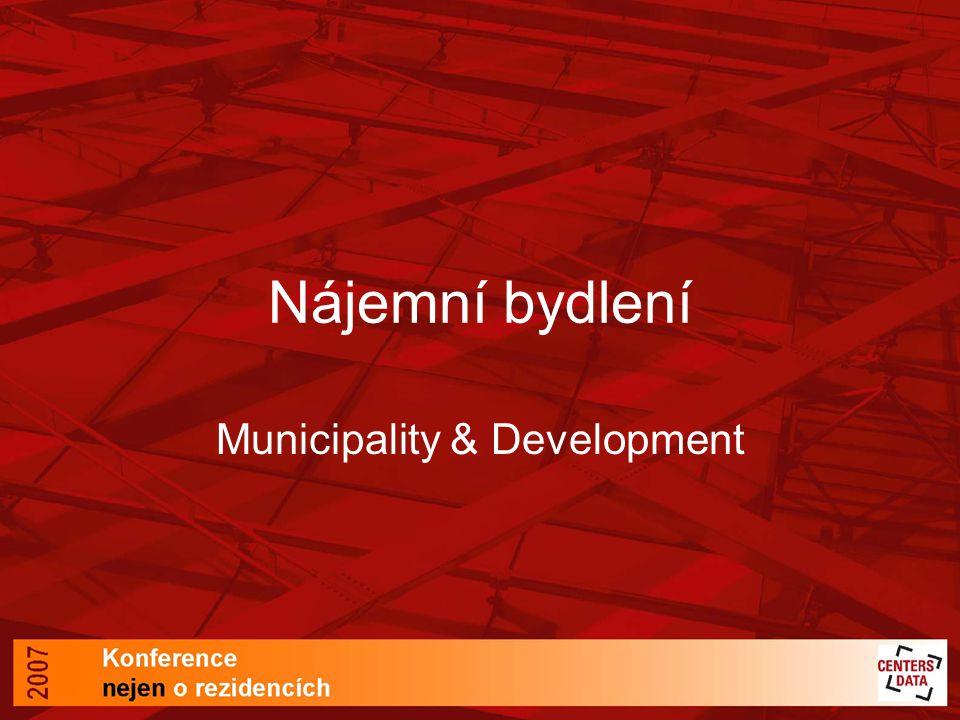 Nájemní bydlení Municipality & Development