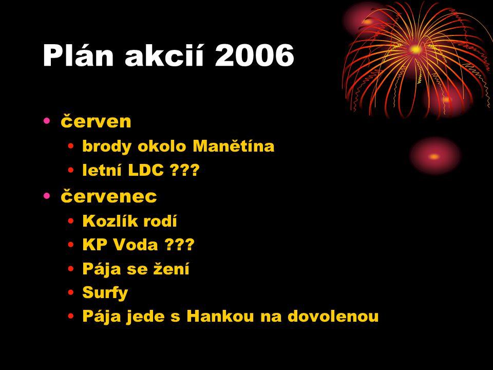 Plán akcií 2006 červen brody okolo Manětína letní LDC ??.