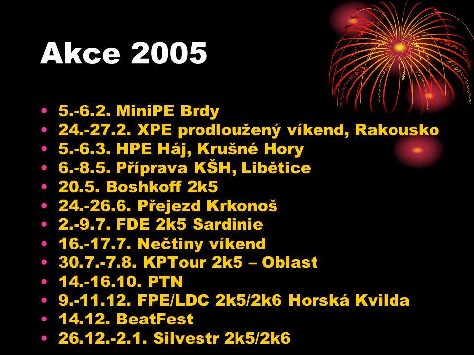 Akce 2005 5.-6.2. MiniPE Brdy 24.-27.2. XPE prodloužený víkend, Rakousko 5.-6.3. HPE Háj, Krušné Hory 6.-8.5. Příprava KŠH, Libětice 20.5. Boshkoff 2k