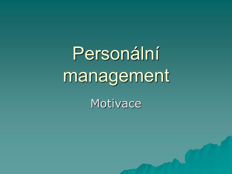 """Motivace  znamená vytvořit u lidí vnitřní zájem, ochotu a chuť se angažovat při plnění jim svěřených úkolů  Pojem motiv vychází z latinského slova """"movere , což znamená hýbati, pohybovati."""