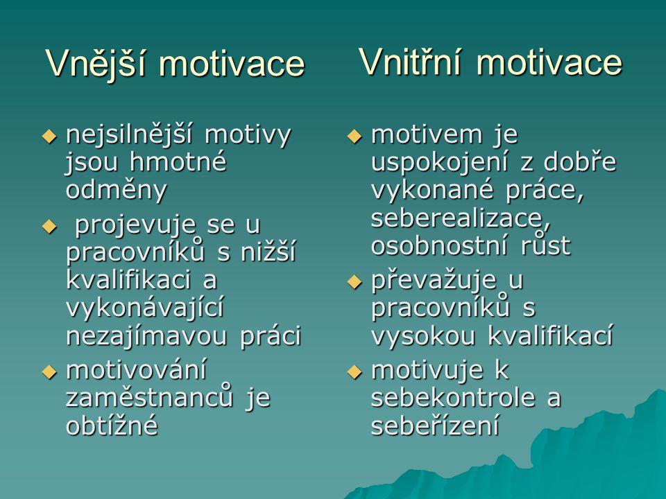  V praxi působí oba druhy motivů současně.